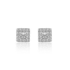 0.77 Carat Diamond Stud Earrings 14K White Gold